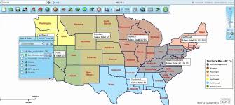 share sales territory maps using map business online youtube