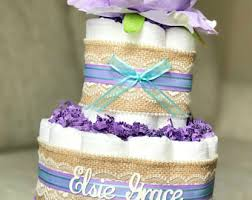 Diaper Centerpiece For Baby Shower by Purple Diaper Cake Etsy