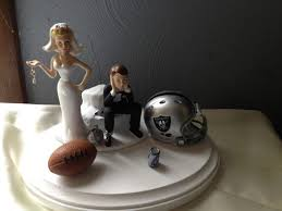 and chain cake topper oakland raiders wedding cake topper bridal football team