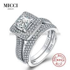 wedding rings wholesale images Wholesale solid silver wedding rings set for couples dubai fashion jpg