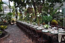 Backyard Restaurant Key West Audubon House Reception Table By D U0027asigner Events Florida Keys