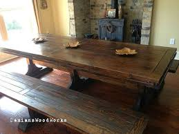 Beautiful All Wood Dining Room Table Featuring The Plato Designed - Handcrafted dining room tables