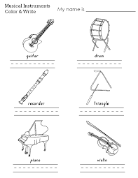 how to draw musical instruments for kids world gitaar sheet