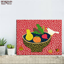 dpartisan yayoi kusama birds wall painting picture leaf home