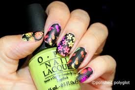 nail art neon and black nail design nail crazies unite