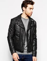motorcycle jackets for men men u0027s black leather biker jackets spring 2015 edition