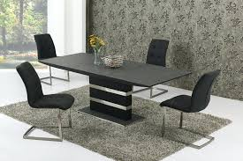 large glass top dining table large glass dining table large extending black stone effect glass