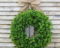 boxwood wreath boxwood wreath etsy