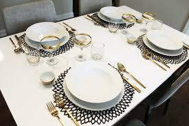 simple table setting table setting simple black white simple table setting aimee mars