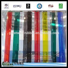 Strip Curtain Roll Dop Standard Polar Ribbed Transparent Blue Yellow Pvc Strip Door