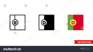 What Are The Colors Of The Portuguese Flag Portugal Flag Icon 3 Types Color Stock Vector 672997327 Shutterstock