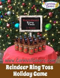 super cute diy christmas carnival type game reindeer ring toss