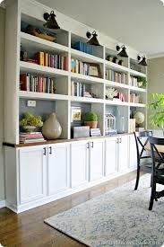 Cost Of Built In Bookcases Ikea Hack Diy Built In Bookcase With Hemnes Furniture Studio 36
