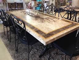 Travertine Patio Table Travertine Dining Table And Chairs Chair Evashure
