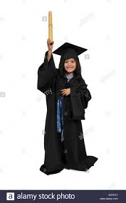 academic robes girl in graduation robes or gown stock photo 156729413