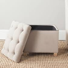 Taupe Ottoman Safavieh Joanie True Taupe Storage Ottoman Mcr4655a The Home Depot