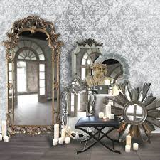 wall ideas catherine ornate wall mirror large ornate black wall