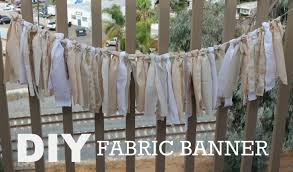 diy fabric banner youtube
