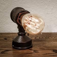 Edison Bulb Table Lamp Industrial Loft Style Table Lamp In Black Finish With Edison Bulb