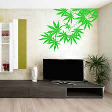aliexpress com buy green tree leafs plant weed vinyl design wall aliexpress com buy green tree leafs plant weed vinyl design wall sticker art home living room bedroom decor left right facing choice wallpapery 820 from