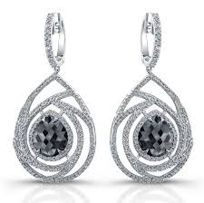 diamond chandelier earrings white gold cut brown diamond chandelier earrings