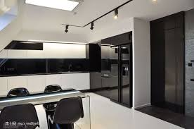 are black kitchen appliances in style white wall mounted storage