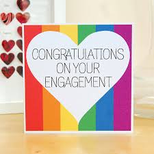 engagement greeting card congratulations on your engagement card by pink and turquoise