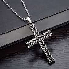 wholesale cross necklace pendants images Women pendants men necklaces los collares 316l stainless steel jpg