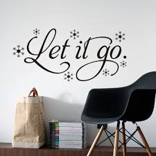 Home Decoration Wall Stickers Aliexpress Com Buy Let It Go Cartoon Wall Quote Stickers Vinyl