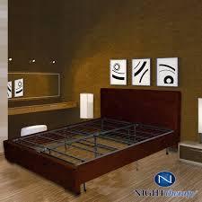 com night therapy platform metal bed framefoundation set also king