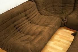 baxton studio modern fabric modular sectional sofa chair ottoman set