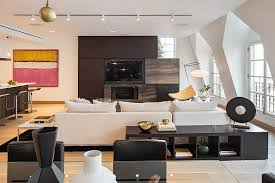 Home Entertainment Design Nyc Exclusive New York City Penthouse Blends Tribeca Style With Modern