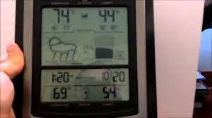 acu rite deluxe wireless weather center youtube