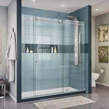 Shower Door Rails Modern Bypass Sliding Shower Doors Showers The Home Depot Within