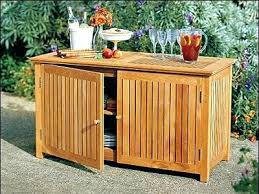 Patio Serving Table Outdoor Storage Tables Topic Related To Garden Furniture Coffee