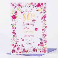 80th birthday card happiness today and always only 99p