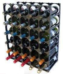 cellarstak diy modular wine racks system packs black 30 bottle