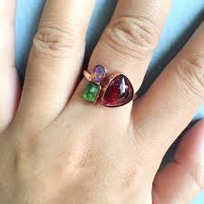 tourmaline opal rubellite u0026 blue green tourmaline with welo opal ring discovered