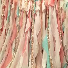 Cream Nursery Curtains by Mint Pink Peach Gold Backdrop Baby Shower Mint And Peach