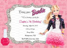 Personalized Invitation Card For Birthday Barbie Birthday Invitations U2013 Gangcraft Net