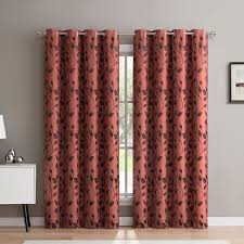 Rona Outdoor Rugs Hlc Me Rona Nature Floral Blackout Thermal Grommet Curtain Panels