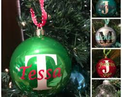 personalized monogram ornament name and