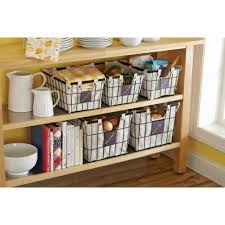 Wire Drawers For Kitchen Cabinets Better Homes And Gardens Small Wire Basket With Chalkboard Black