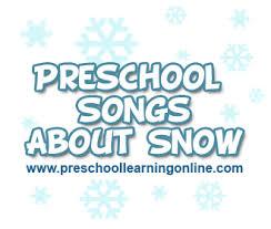 winter songs for preschool learning