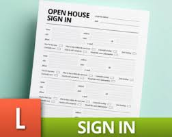 open house sign in template real estate template realtor