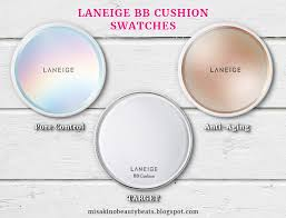 laneige bb cushion light medium comparison swatch laneige target medium vs laneige pore control