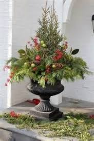 Christmas Ideas For Outside Planters by 91 Best Winter Porch Pots Images On Pinterest Christmas Ideas