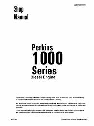 motor perkins 1000 series sebd1006600 piston propulsion