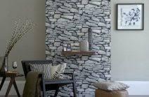 design tapete superlativ stein tapete wohnzimmer ideen wandgestaltung mit