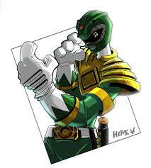 green power ranger herms85 deviantart